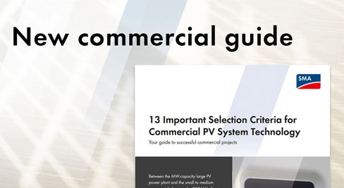 13 Important Selection Criteria for Commercial PV System Technology from SMA